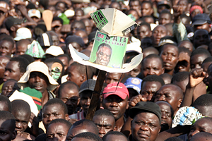 PF cadres listening to speeches during the rally