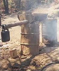 oil drum used to brew kachasu