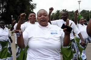 PF women during the nternational women's day match past in Lusaka