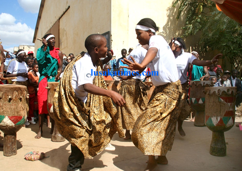 Some refugees living in Zambia showcasing their dances during the World Refugee Day in Lusaka