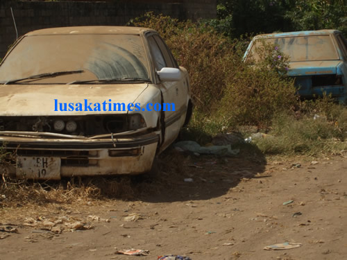 Zambian compounds are fast becoming dumping grounds for old broken down Japanese cars
