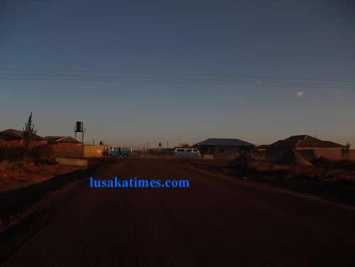 Dirt Roads of Chalala , Lusaka at sunrise