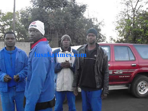 Hard working men of Lusaka Intercity Bus Terminal.