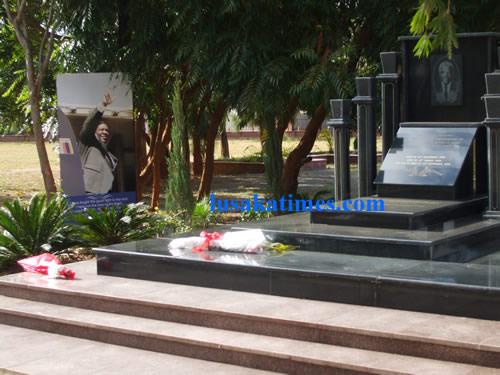 The memorial site for the Late President Levy Mwanawasa