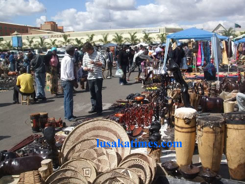 Assorted crafts at the Lusaka Sunday Market