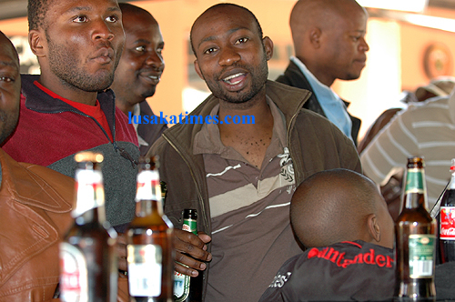 Party time... Some Lusaka residents take time off their busy schedules to interact during the weekend.