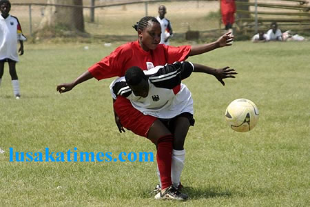 Girls football is one the rise in Lusaka especially at the weekend in the sports centres around the city