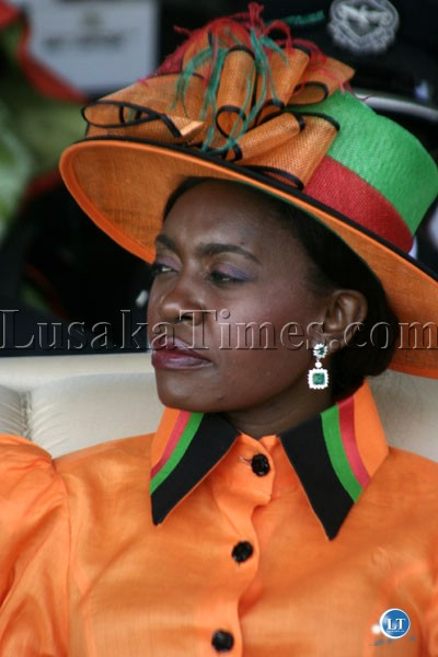 First Lady Thandiwe Banda during independence Day celebrations in Luaska - Copy