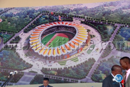 Artist's Impression of the New Lusaka Independence Stadium