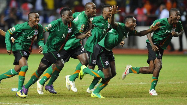 Zambia Players celebrate