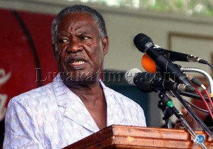 President Sata makes a speech during the International Women's Day in Lusaka
