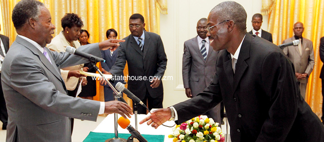 Malawian Judge,Chikopa take Oath MALAWI High Court Judge, Lovemore Chikopa has arrived in the country to commence sittings of the tribunal established to investigate alleged impropriety of three local judges.President Michael Sata talks to Judge Chikopa (r) during the swearing -in ceremony at State House