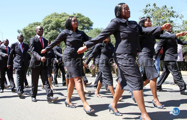 FRA workers marching in Lusaka during Labour Day celebrations