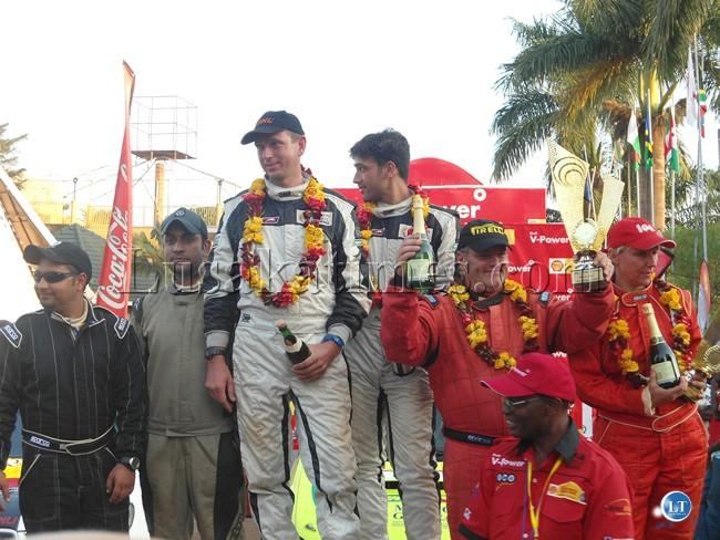 Essa on the podium in Uganda