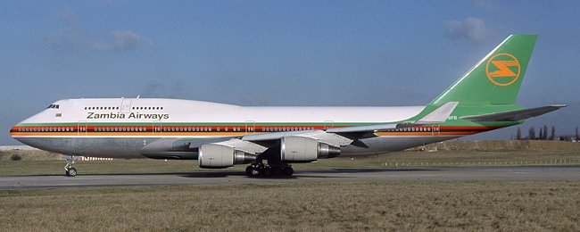 Boeing 747 MSN 19746 leased to Zambia Airways and delivered on 29 Sep 1988 with registration number N603FF. Details http://www.planesregister.com/aircraft/b747-19746.htm