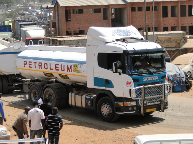 Over 200 fuel tankers which were marrooned at Tunduma in Tanzania have started moving into Zambia as seen in the picture