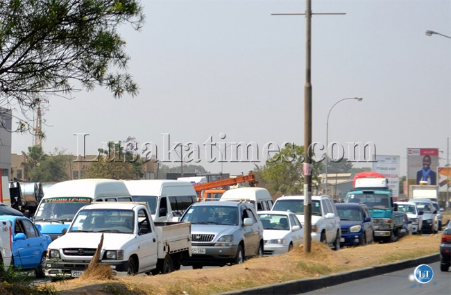 Congestion on Lusaka Roads