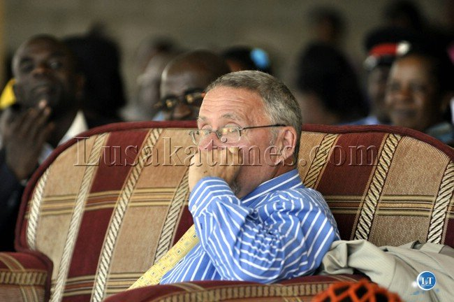 Vice president Guy Scott following proceedings during the Chakwela Makumbi traditional ceremony