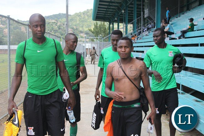 National team players at the training camp base