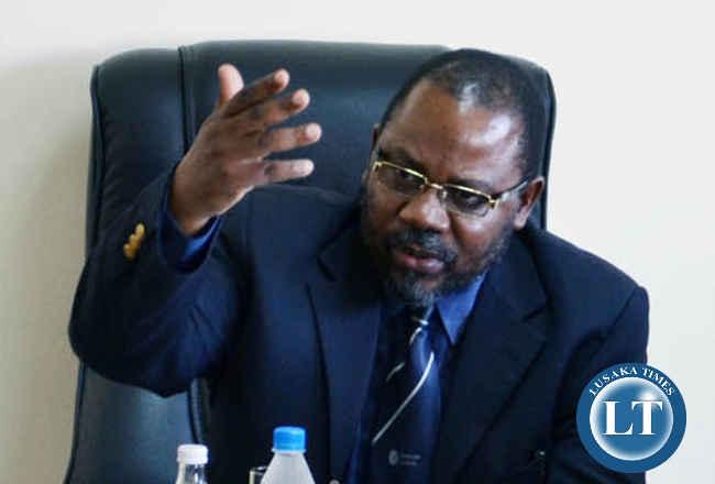 Acting Zambia Railways Managing Director Muyenga Atanga