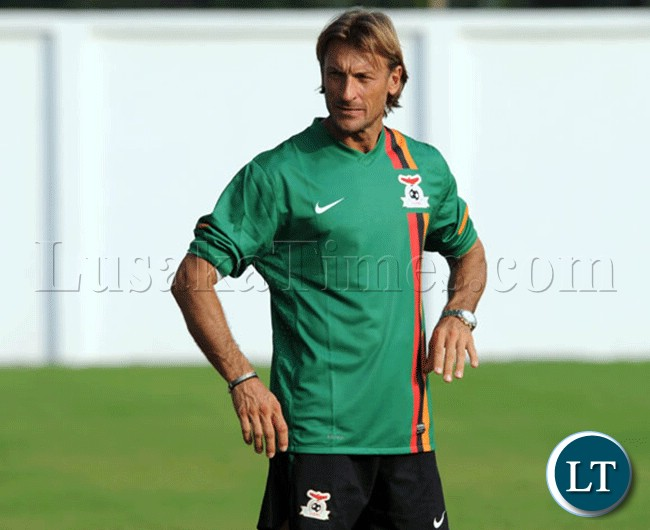 National Coach Renard at the training ground