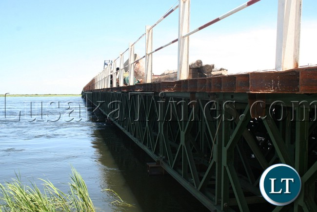 (Mongu-Kalabo Road) Side view of the new elected bridges which are 30 meters underground on Mongu-Kalabo road