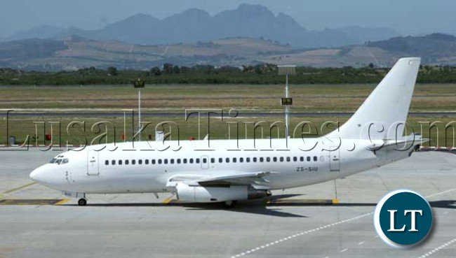 a Boeing 737 aircraft similar to that being introduced by Proflight Zambia