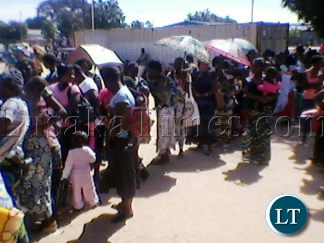 MOTHERS waiting to have their under five children weighed at Kaoma District Hospital last week