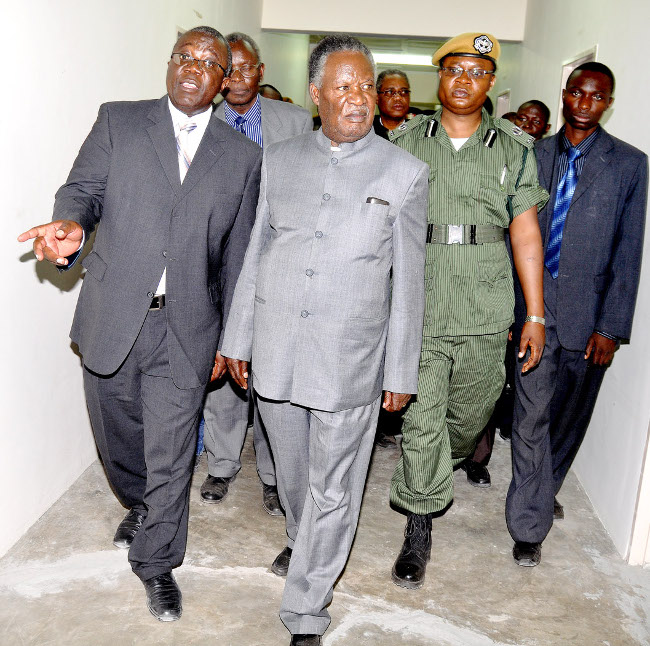 President Sata during the official opening of Shangombo District Hospital on April 19,2013-Picture by THOMAS NSAMA
