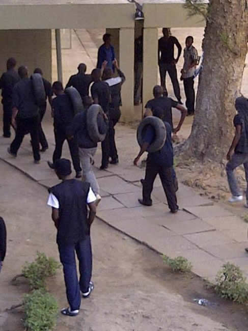 Students dressed in black.Courtesy Mwebantu.com