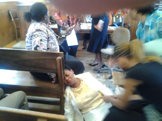 Mrs Zimba collapsing