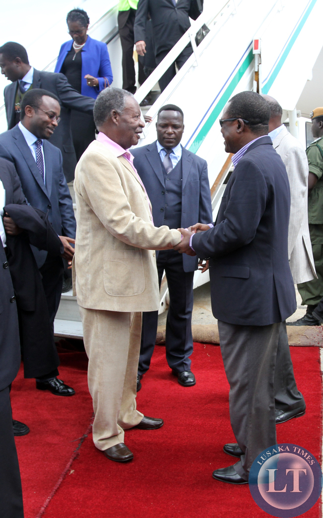 Justice minister welcome President Sata back in the country from his holiday