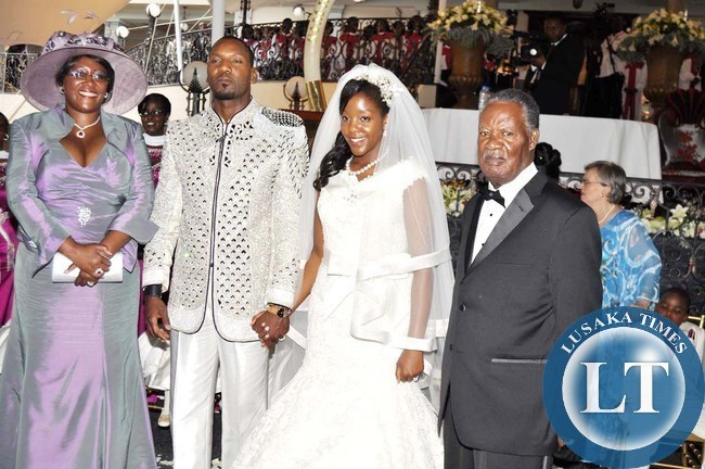 Zambia : Pictures: Sata at wedding ceremony of Robert Mugabe's daughter