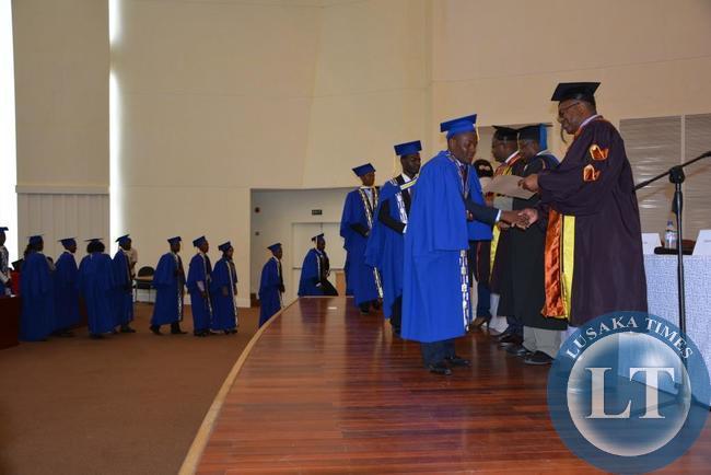 Licentiate level graduates during the 7th ZICA Graduation Ceremony at
