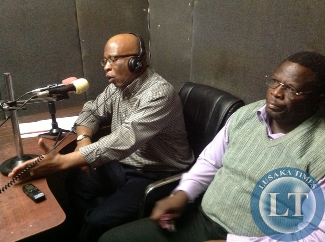 Dr Nevers Mumba speaking on Radio Mazabuka