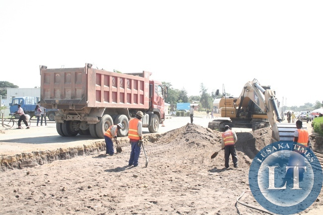 Expansion of Township Roads on the Independence Avenue by China Geo Company (CGC) in Mongu District of Western Province has commenced