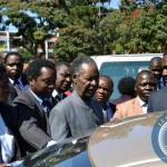 file:President Michael Sata leaves the Lusaka High after attending a court case