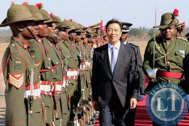 Chinese Vice President inspecting a guard of honour