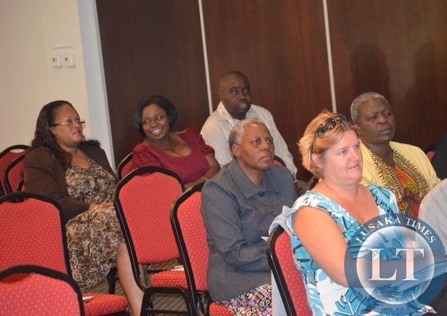 Some Livingstone residents following a presentation by Solwezi's Trident College at Protea Hotel in the tourist capital