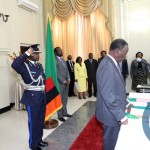 FILE: President Michael Sata during the Swearing in Ceremony
