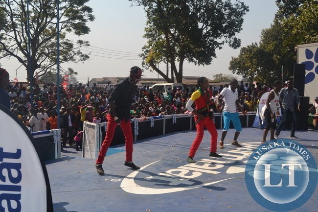 THE Zambia International Trade Fair in Ndola is a time for Copperbelt residents to relax and enjoy among other things, music. Here some showgoers entertain other showgoers at one of the stands