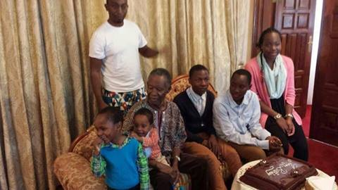 PRESIDENT Sata celebrates his birthday with his family at State House on Sunday. - Picture by MULENGA SATA
