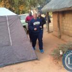 Dr Mumba jogging early morning at the MMD camp in Mangango