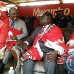 ormer President Rupiah Banda with Transport, Works, Supply and Communication Minister Yamfwa Mukanga during Kulamba traditional ceremony of the Chewa people in Katete