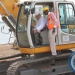 Vice President Guy Scott at the launch of the Kanzungula Bridge Construction