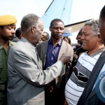 President Sata Spaking to Given Lubinda on arrival in Solwezi