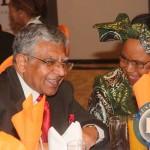 "Mahtani Group of Companies hosts a ""Zambia @ 50 Dinner"".Here Dr Raj Mahtani talks to  Mama Kankasa"
