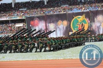 ZNS displays : ZAMBIA GOLDEN JUBILEE