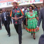 "Acting President Edgar Lungu with his wife Esther ""Bana Dalitso"" Lungu"