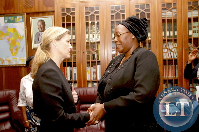 Countess of Wessex, Sophie during her visit to First Lady Dr Christine Kaseba at State House on November 10,2014 -Picture by THOMAS NSAMA